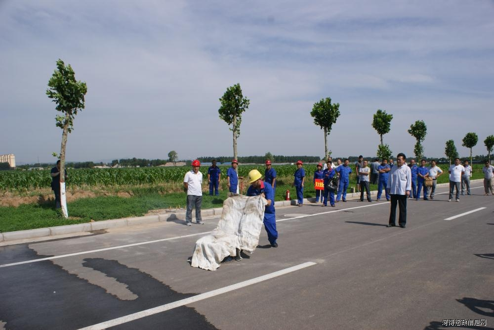 鹤壁市道路运输管理局组织危险品运输企业开展应急救援联合演练